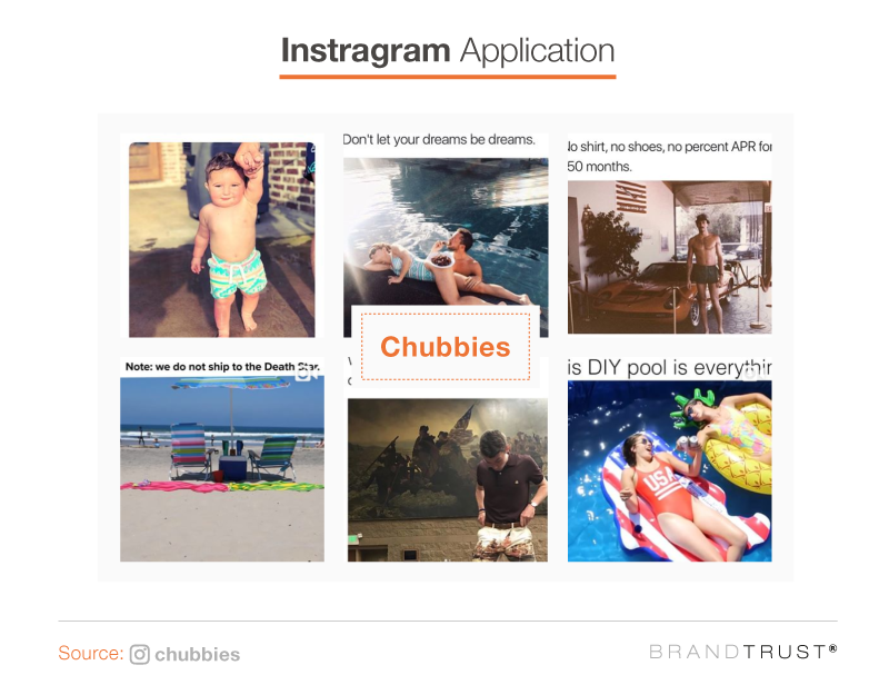 Chubbies instagram applications
