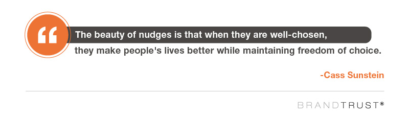 Well-chosen nudges improve peoples lives while maintaining the freedom of choice